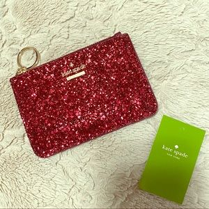 Kate Spade Card Case Deep Plum